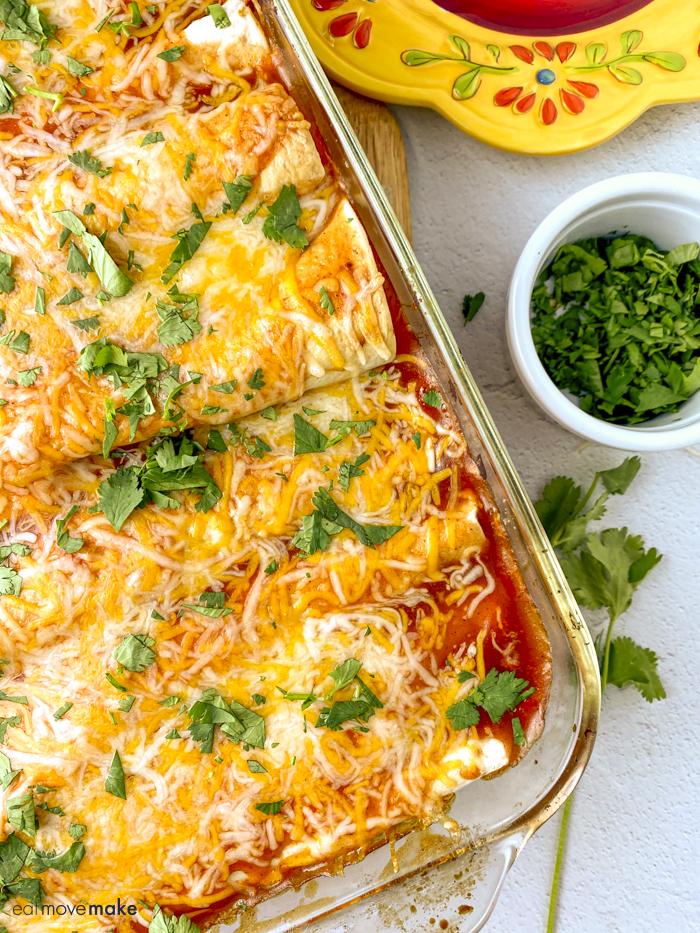enchiladas and cilantro