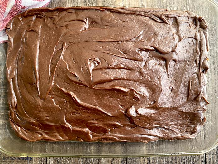 fudge spread in pan