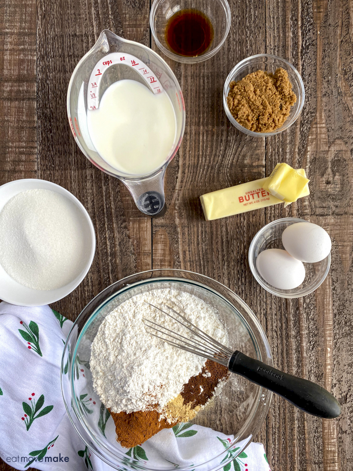 ingredients for spice cake
