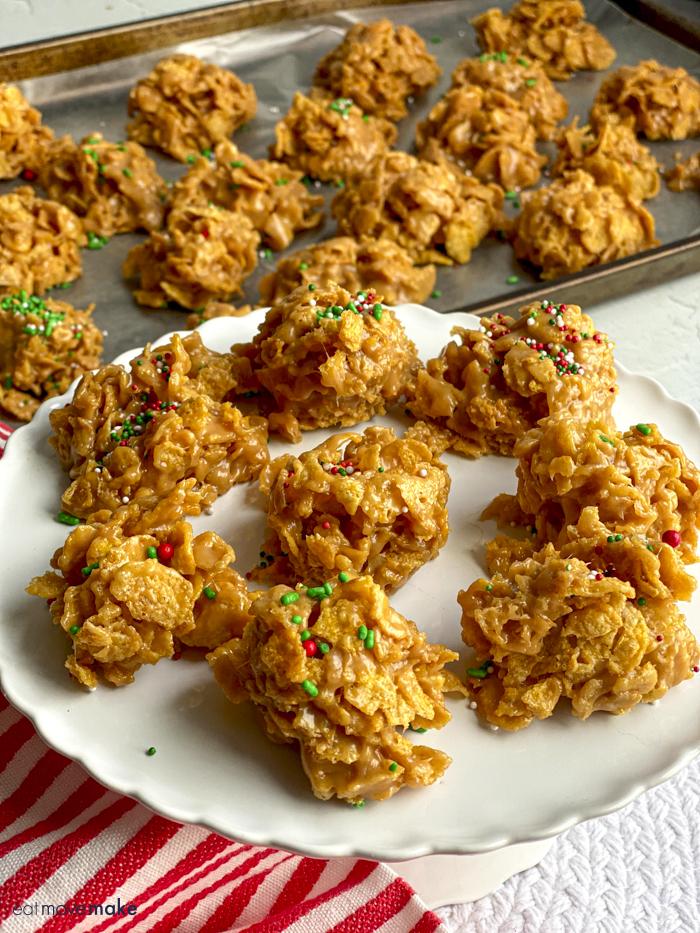 plate of cornflake candy