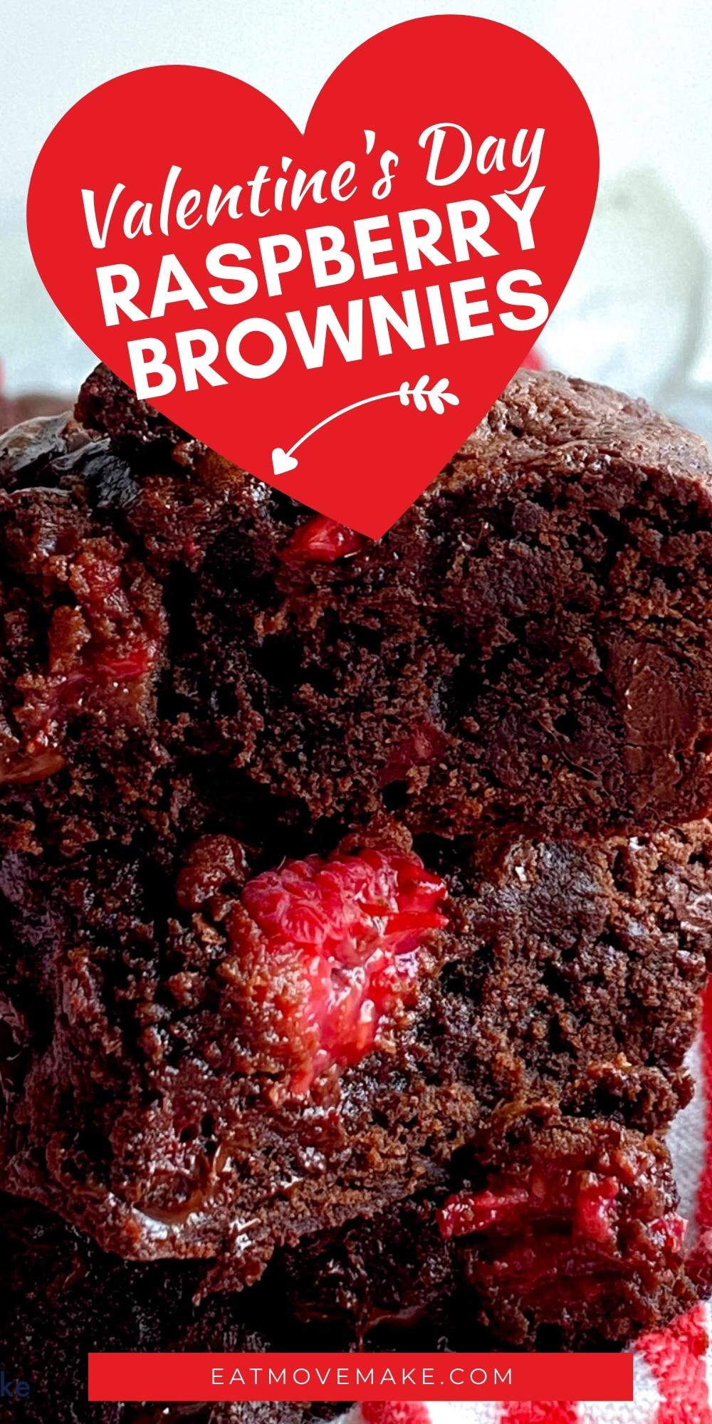Valentine's Day Raspberry Brownies