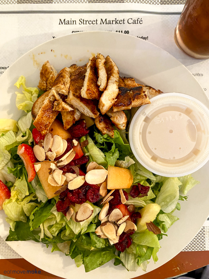 fresh fruit salad with chicken