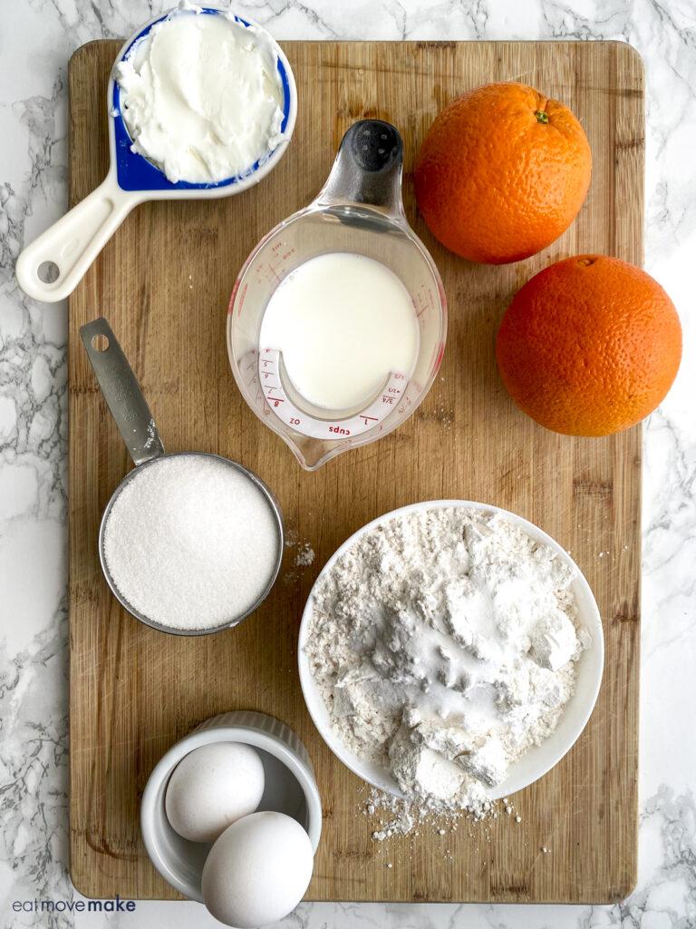 ingredients for orange drop cookies
