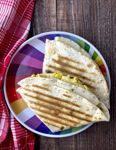 panini tortillas on plate