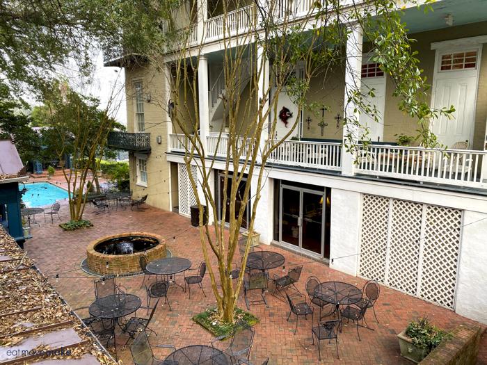 rear courtyard of Duff Green Mansion