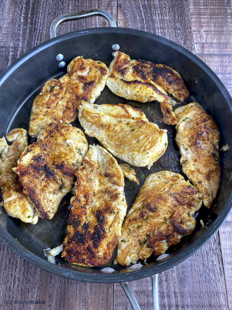 chicken seared in pan