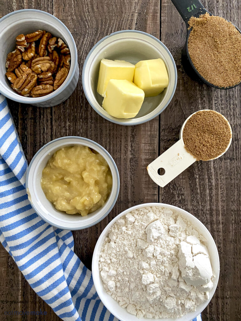 ingredients for pecan sticky buns