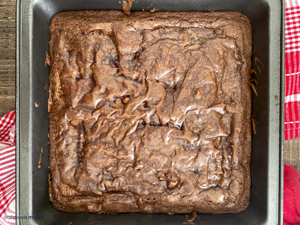 square pan of brownies