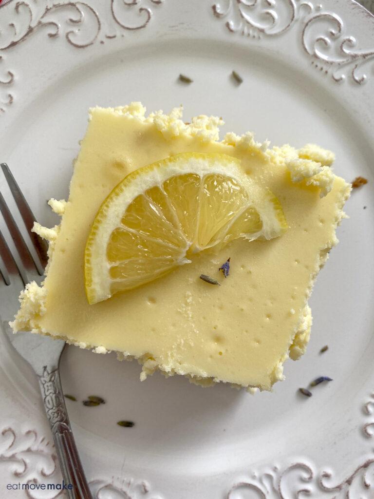 lemon lavender cheesecake bar