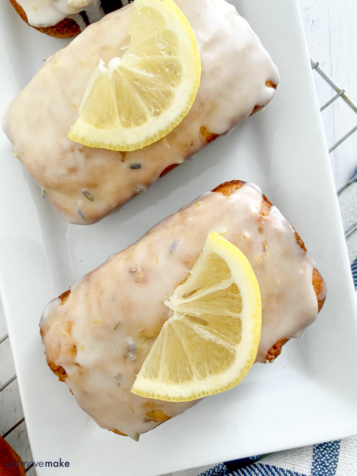 mini glazed lavender lemon bread