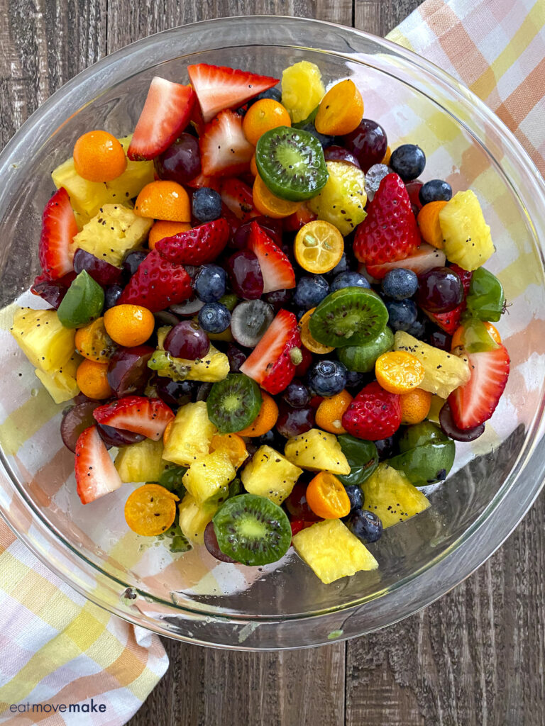 mixed berry and citrus fruit salad
