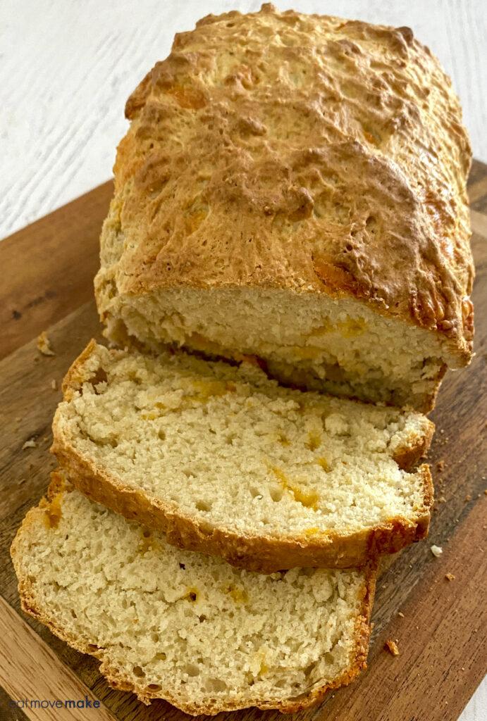 soda bread on cutting board