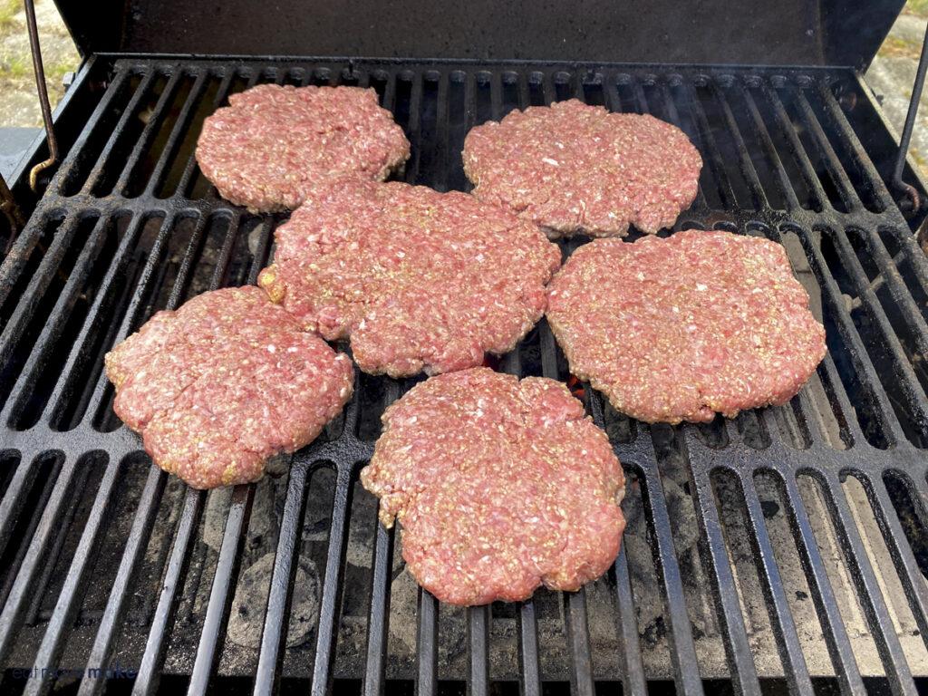 salisbury steak on the grill