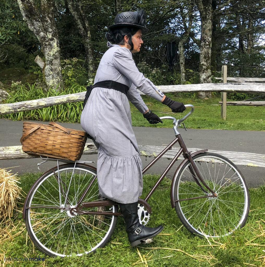Almira Gulch on bike