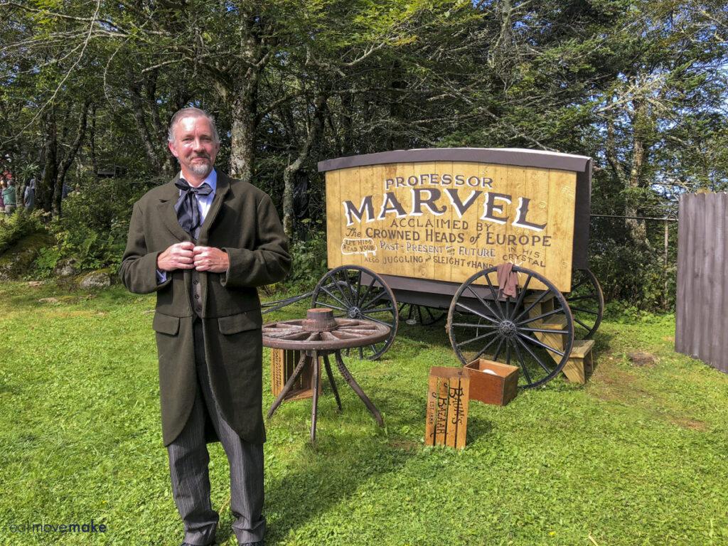 Professor Marvel by his wagon