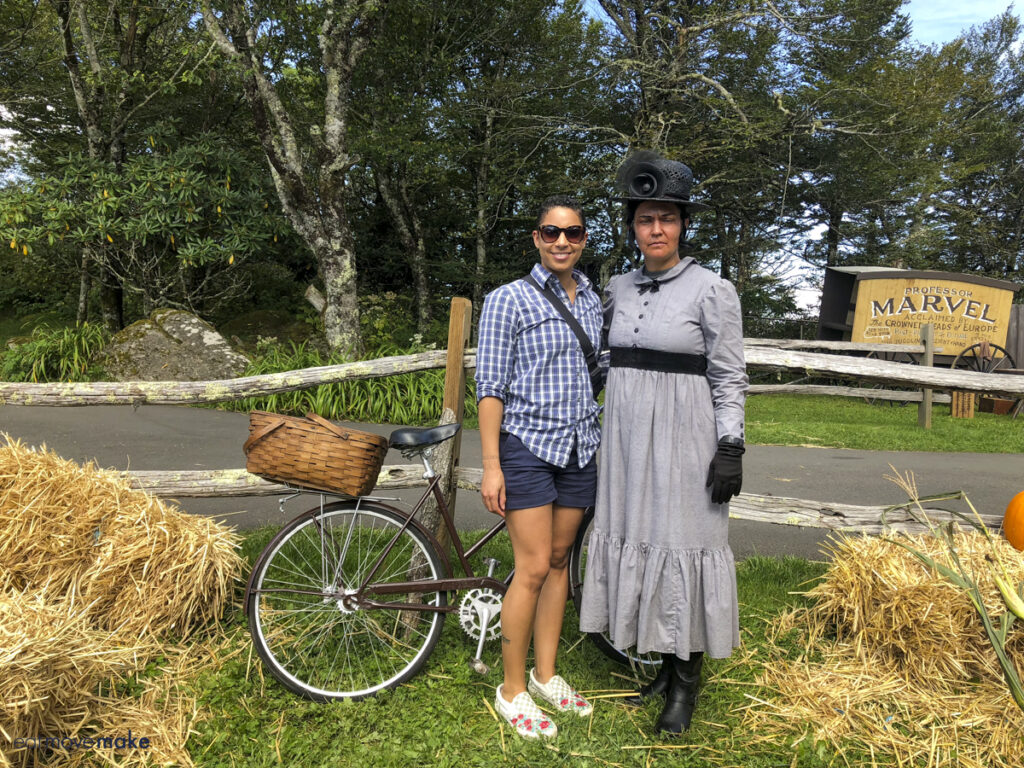 lady standing next to Almira Gulch