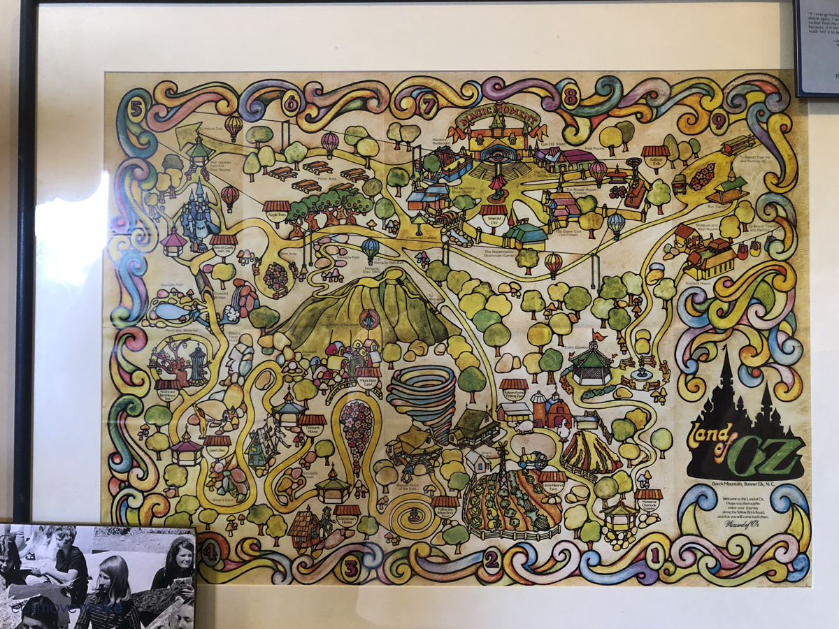 map of Land of Oz amusement park