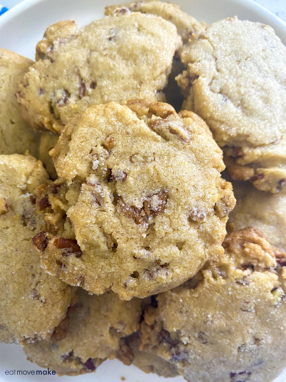 cookies with pecans on plate