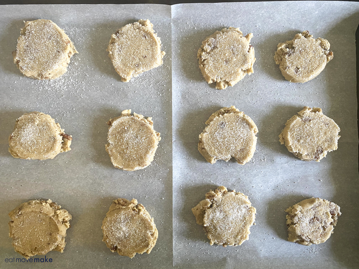 pecan cookies ready for baking