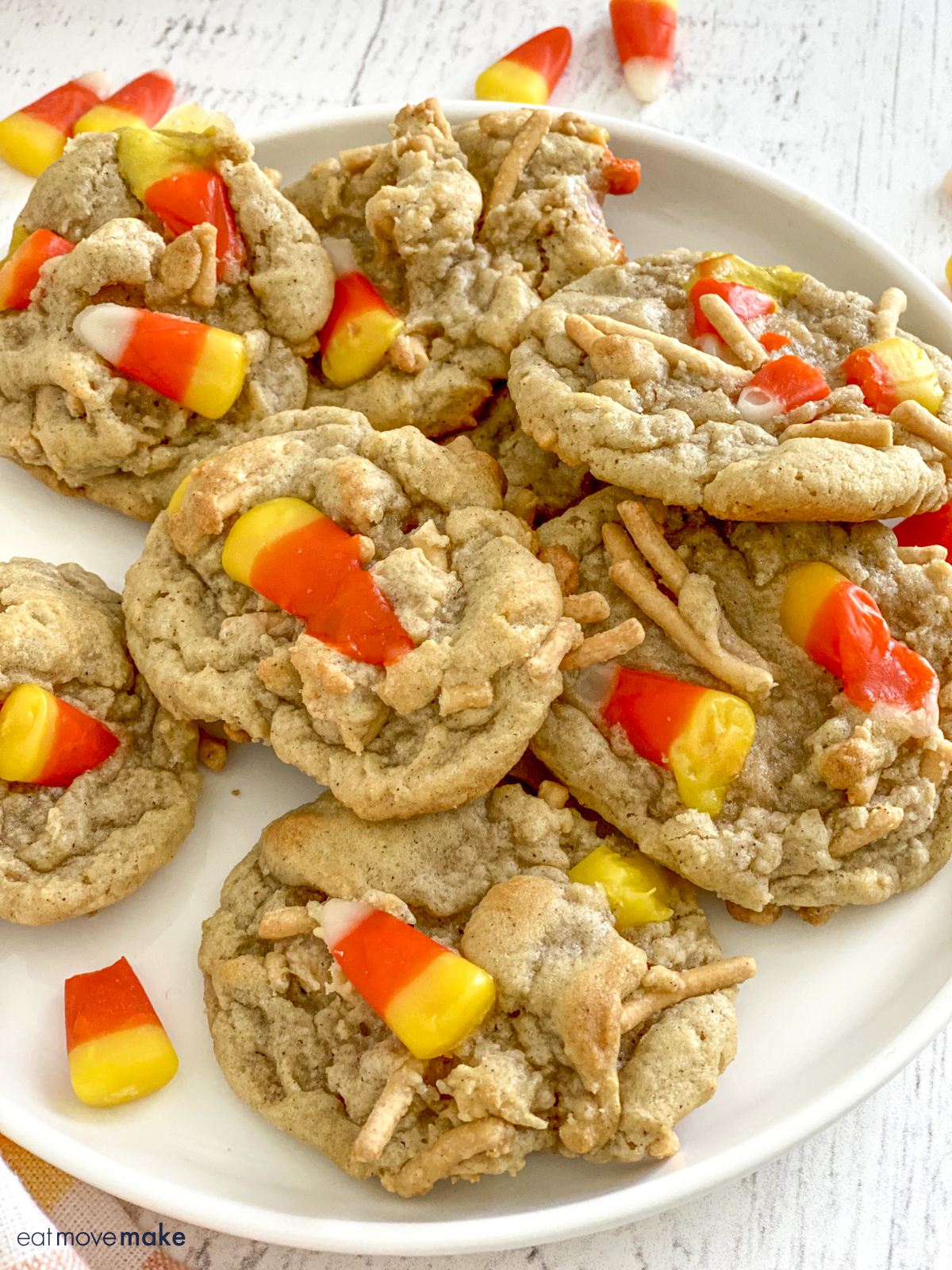Halloween cookies on white plate