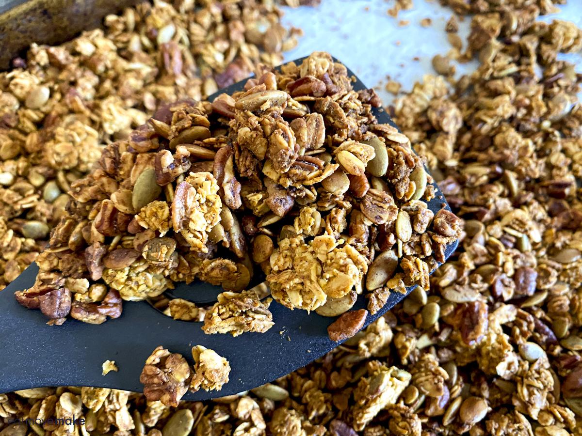 close-up of granola