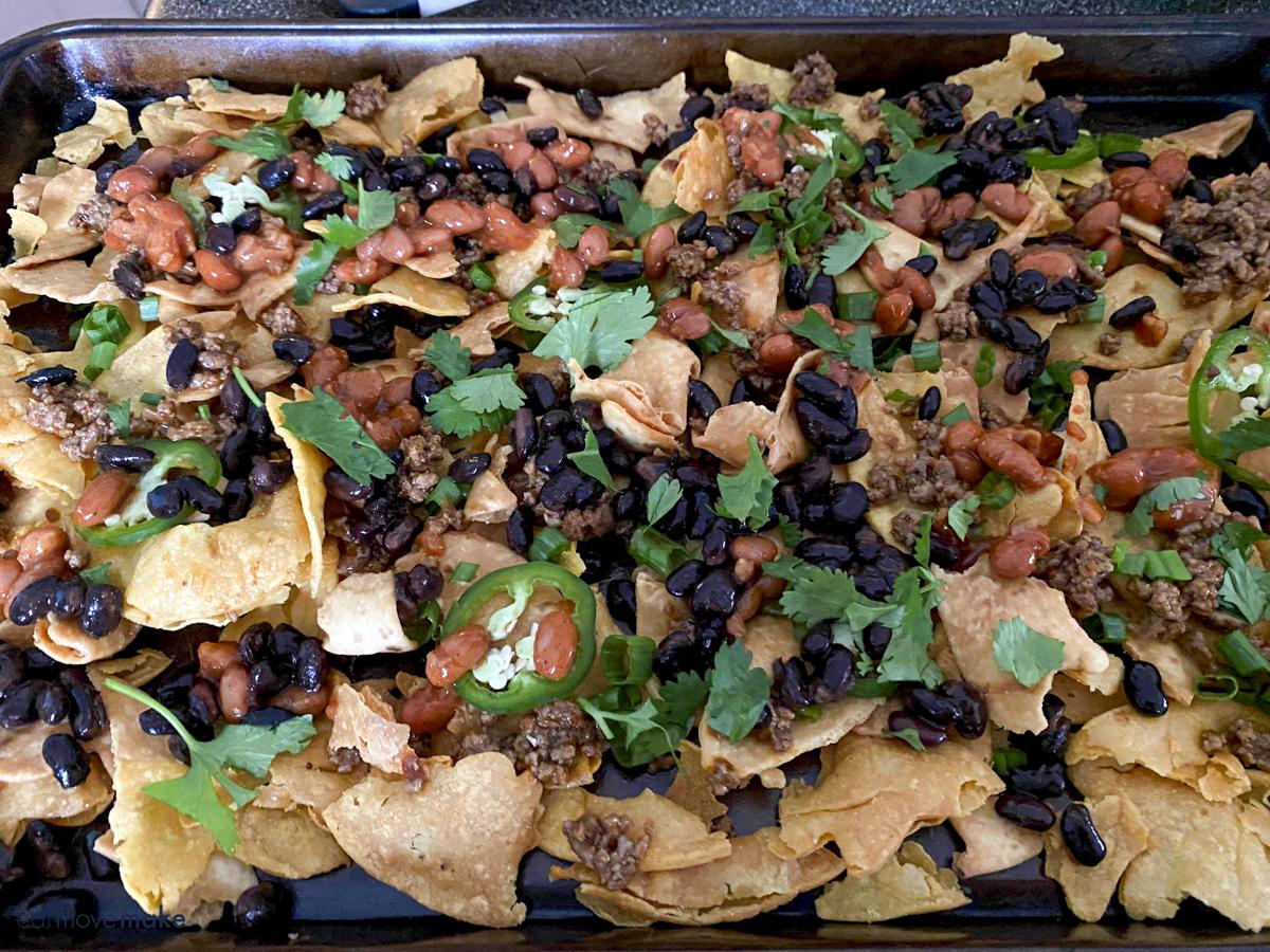 layering ultimate nachos