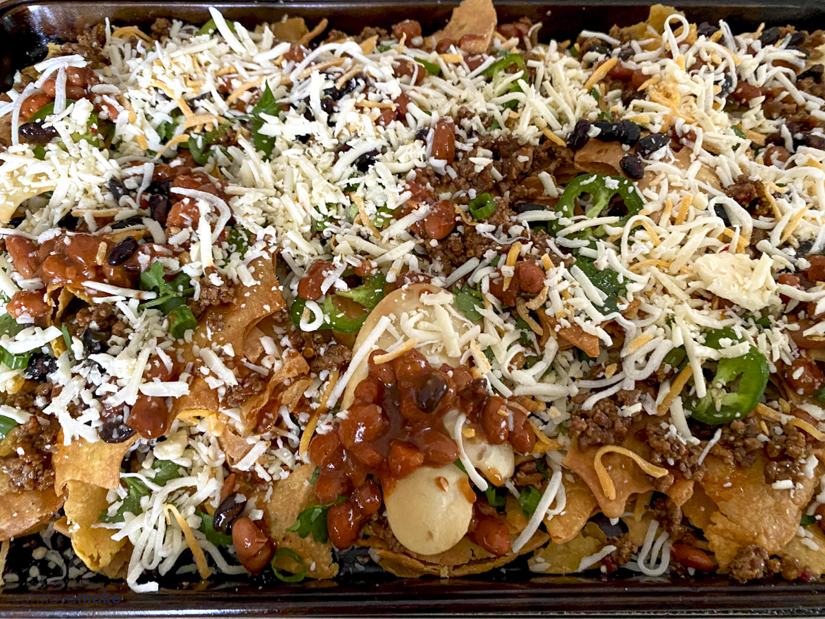 layers for ultimate Halloween nachos