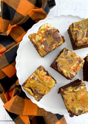pumpkin marbled brownies