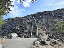 Steps to lava flow