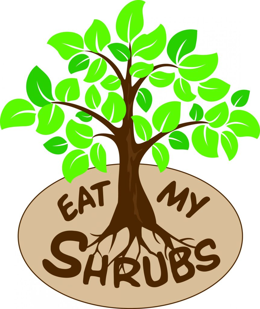 Eat MY Shrubs logo for low maintenance plants