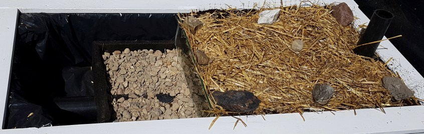 three layers of a wicking bed
