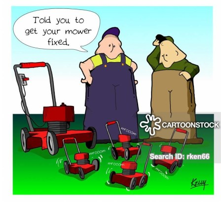 funny cartoon about organic garden maintenance consultations