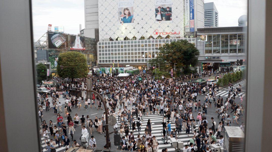 Shibuya crossing vu d'en haut