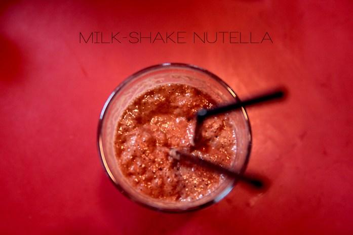 Milk Shake Nutella Café Costes