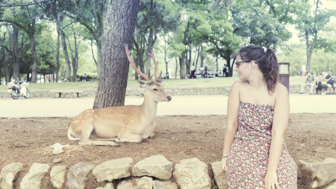 Eatmytravel avec un daim à Nara