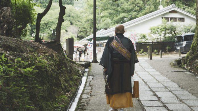 Un moine à Nara