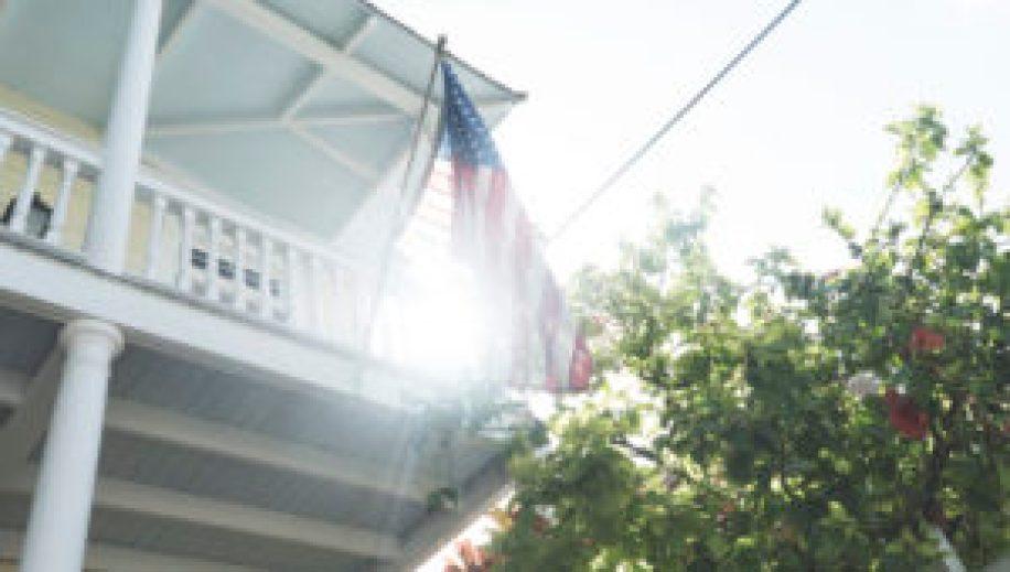 Un drapeau américain à Key West