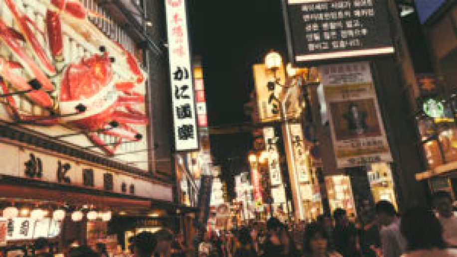 Les enseignes lumineuses de Dotombori à Osaka