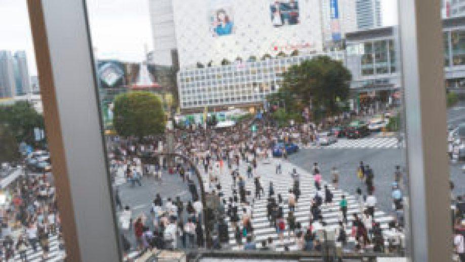 Shibuya crossing vue d'en haut