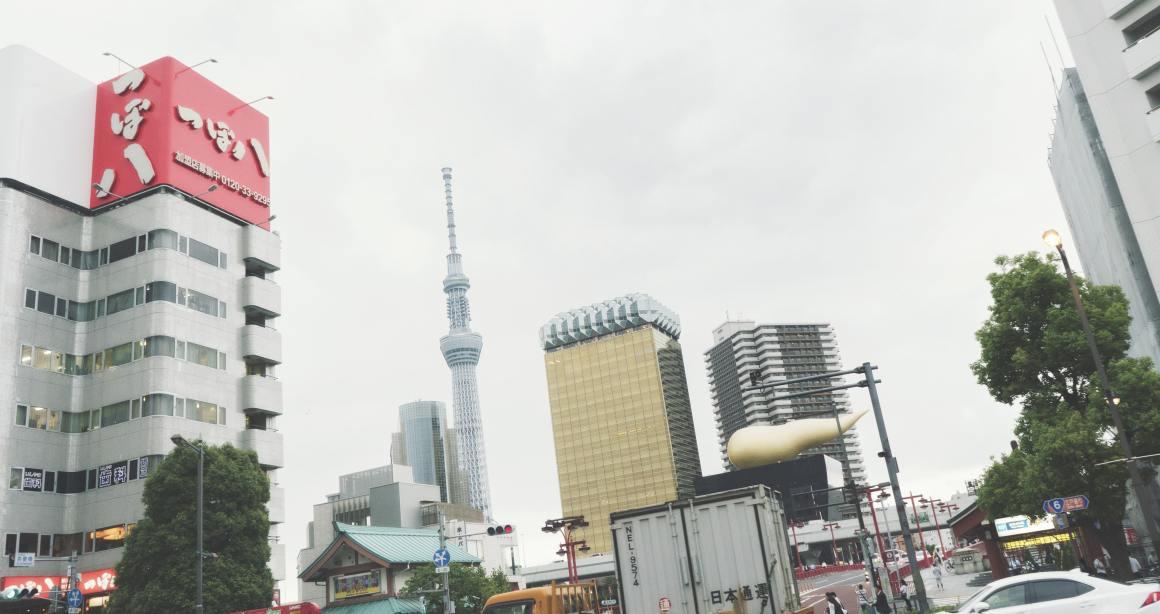 Asahi Beer Tower et Tokyo Sky Tree