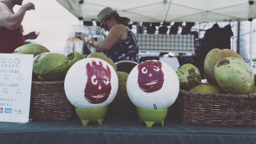 Eau de coco au Wynwood Market Place