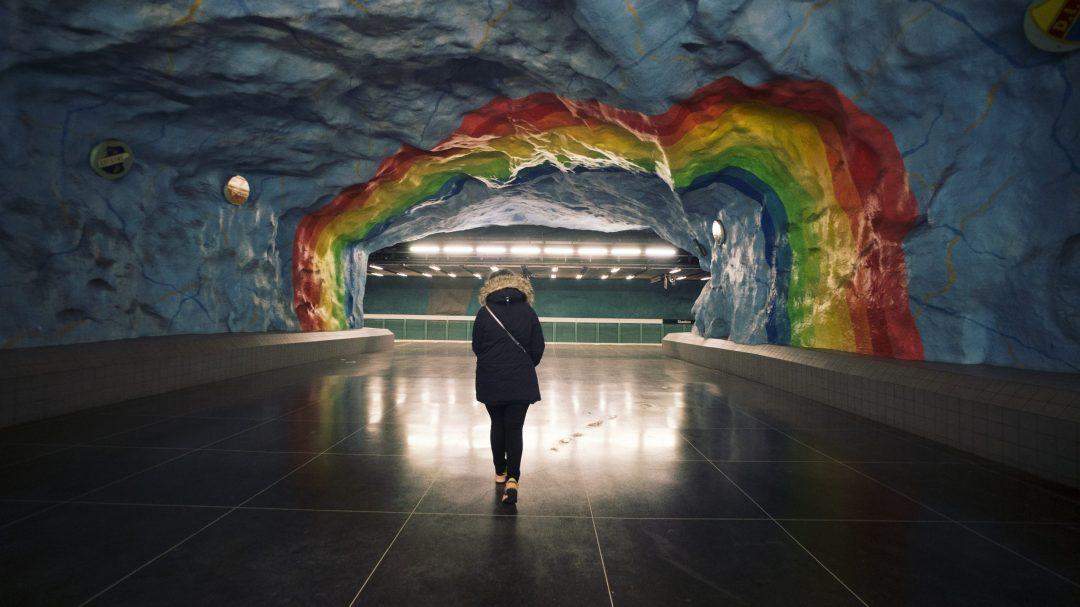 Station de métro à Stockholm