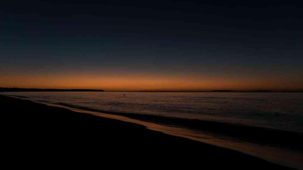 coucher de soleil sur ouvea