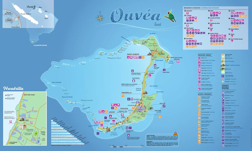 plan de l'île d'Ouvéa