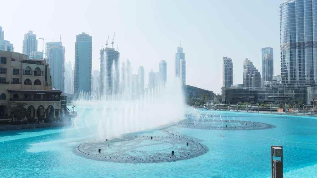 spectacle des fontaines à Dubaï au Dubaï mall