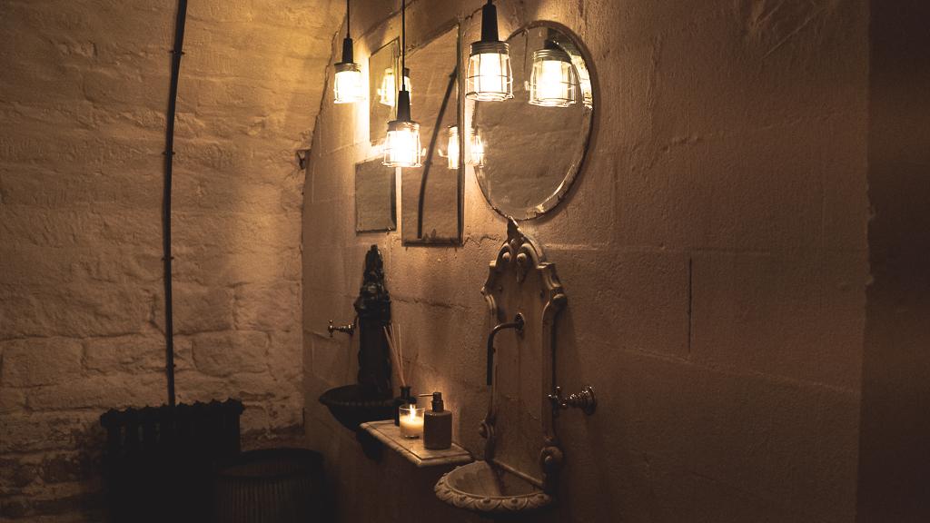 les toilettes du restaurant bambou