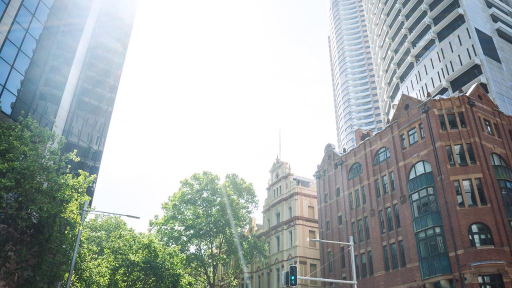 les rues d'une ville australienne