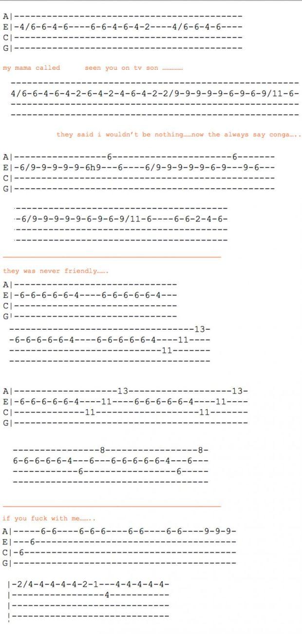 post malone ukulele tabs