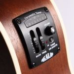 Acoustic-electric-ukulele-EQ-and-volume-controls