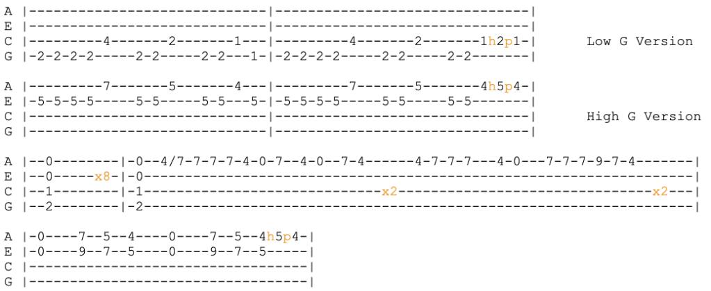 blink 182 - the rock show ukulele tabs